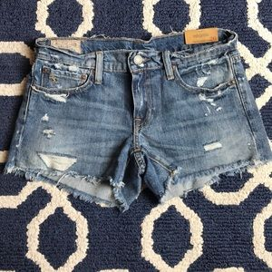 (NWT) DISTRESSED RALPH LAUREN CROSBY DENIM SHORTS